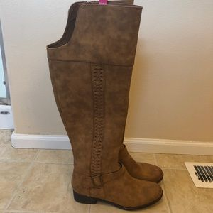 JustFab Ellison Knee High Wide Calf Boots NWOT